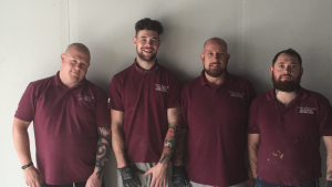 Some of our team (Carl is second from right).